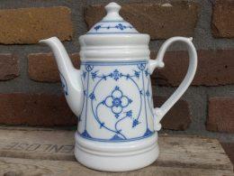 Blauw saks koffiepot Kronester Bavaria Original Indisch Blau