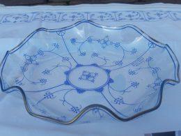 Schitterende glazen serveerschaal, bonbonschaal Origineel Blau-saks Design