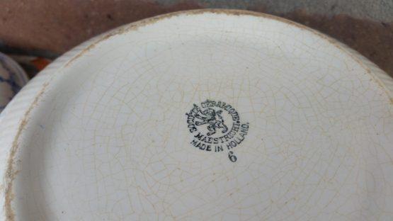 Soepterrine Societe Ceramique  blauw saks