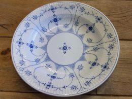 Soepborden, ontbijtborden, dinerborden Societe Ceramique blauw saks