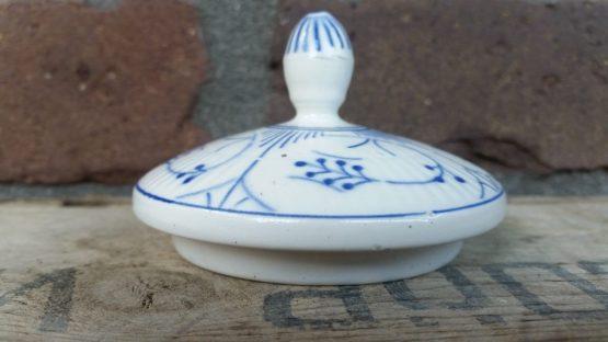 Deksel aardewerk Blauw saks