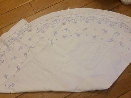 Blauw saks tafelkleed rond diameter 143 cm katoen