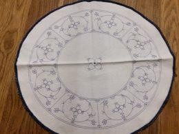 Dekkleedje blauw saks diameter 36.5 cm