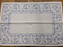 Kleedje blauw saks katoen 35.7 x 25.5 cm