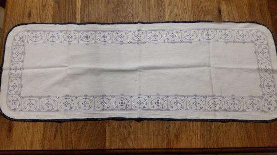 Tafelloper katoen blauw saks 80 x 29.5 cm