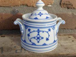 Blauw saks antieke suikerpot  Oscar Schaller