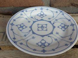 Blauw saks Royal bavaria gebakbordjes