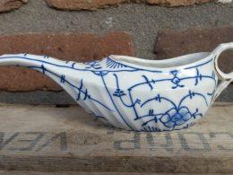 Oliekannetje blauw saks antiek model Bavaria
