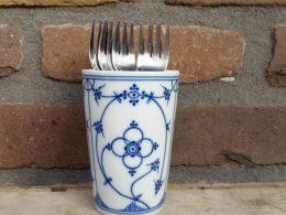 Blauw saks lepelvaasje kronester bavaria