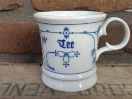 Beker, drinkbeker blauw saks Tee