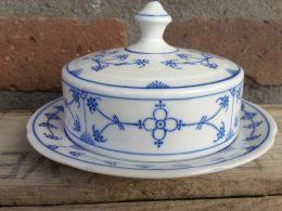 Blauw saks botervloot klein model geschulpt