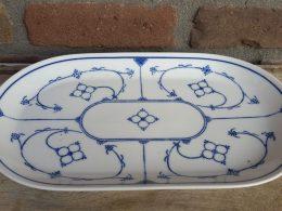 Blauw saks Kahla vleesschaal, serveerschaal