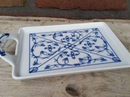 Bonbonschaaltje, koekjesschaaltje blauw saks Tettau