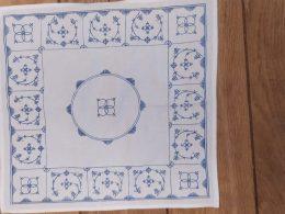 Blauw saks katoenen servetten  afmeting 36 x 34 cm
