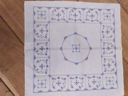 Blauw saks Jager katoenen servetten ( per stuk)