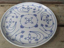 Blauw saks ontbijtbord Gestempeld Chamore