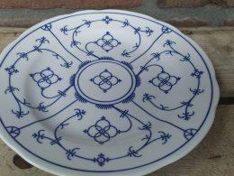 blauw saks winterling geschulpte borden tussenbord ca 21 cm