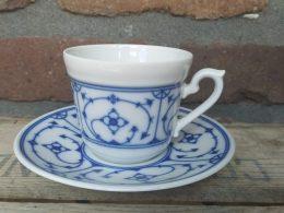 blauw saks Kronester Bavaria kop en schotel