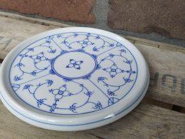 Blauw saks antieke onderzetter voor bij pannen