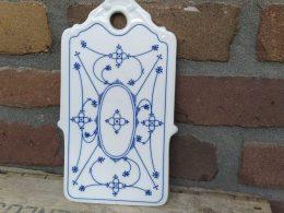 Blauw saks antieke snijplankje kaasplankje porselein