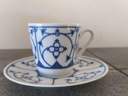 Blauw saks Bareuther kop en schotel espressokopjes