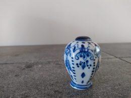 blauw wit vaatje, zoutvaatje/ pepervaatje